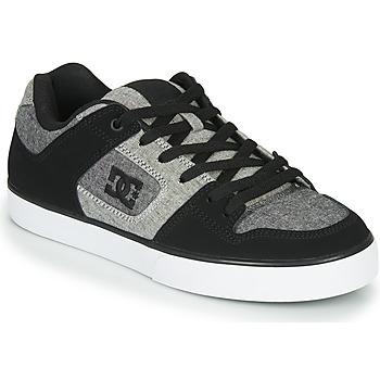 Cipők Férfi Rövid szárú edzőcipők DC Shoes PURE Fekete  / Szürke