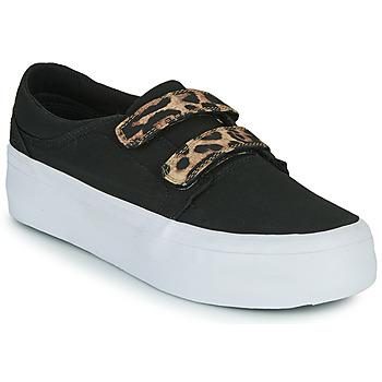Cipők Női Magas szárú edzőcipők DC Shoes TRASE PLATEFORM V Fekete  / Leopárd