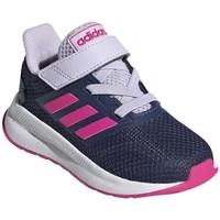 Cipők Gyerek Futócipők adidas Originals Runfalcon I Białe,Granatowe