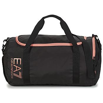 Táskák Férfi Sporttáskák Emporio Armani EA7 TRAIN CORE U GYM BAG SMALL Fekete  / Rózsaszín