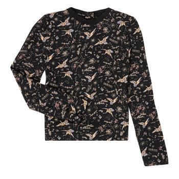 Ruhák Lány Hosszú ujjú pólók Ikks XR12052 Fekete