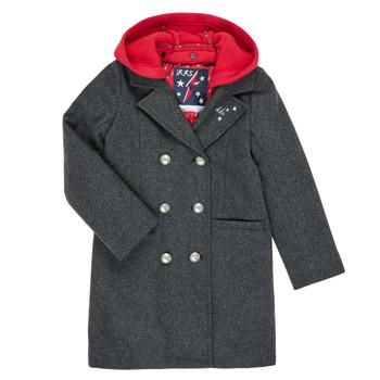 Ruhák Lány Kabátok Ikks XR44012 Szürke