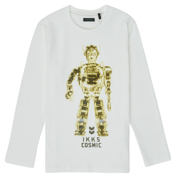 Ruhák Fiú Hosszú ujjú pólók Ikks XR10233 Fehér
