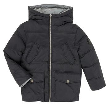 Ruhák Fiú Steppelt kabátok Ikks XR41053 Fekete