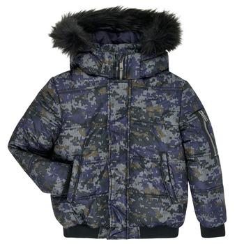 Ruhák Fiú Steppelt kabátok Ikks XR41133 Kék