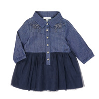 Ruhák Lány Rövid ruhák Ikks XR30150 Kék