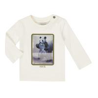Ruhák Fiú Hosszú ujjú pólók Ikks XR10101 Fehér