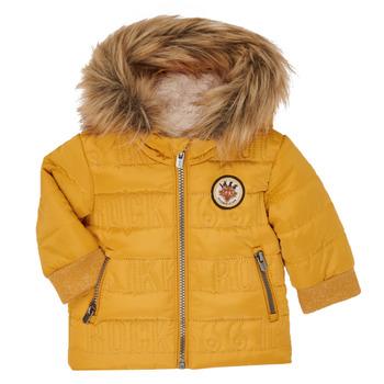 Ruhák Fiú Steppelt kabátok Ikks XR41021 Citromsárga