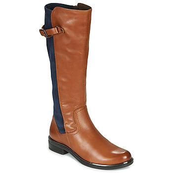 Cipők Női Városi csizmák Caprice 25504-387 Konyak / Kék