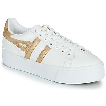 Cipők Női Rövid szárú edzőcipők Gola ORCHID PLATEFORM Fehér / Arany