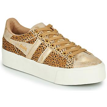Cipők Női Rövid szárú edzőcipők Gola ORCHID PLATEFORM SAVANNA Arany / Gepárd