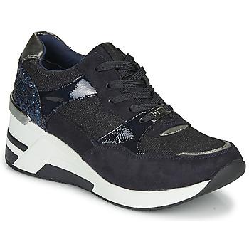 Cipők Női Rövid szárú edzőcipők Tom Tailor 92610-BLEU Kék