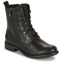 Cipők Női Csizmák Tom Tailor 93303-NOIR Fekete
