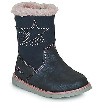 Cipők Lány Városi csizmák Tom Tailor 72307-BLEU Kék