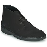 Cipők Férfi Csizmák Clarks DESERT BOOT 2 Fekete
