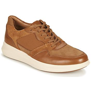 Cipők Férfi Rövid szárú edzőcipők Clarks UN GLOBE RUN Teve