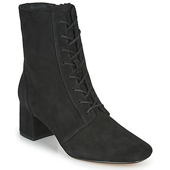 Cipők Női Bokacsizmák Clarks SHEER55 LACE Fekete