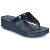 Cipők Női Lábujjközös papucsok Crocs CROCSMONTEREYMETALLICSTPWGFPW Tengerész