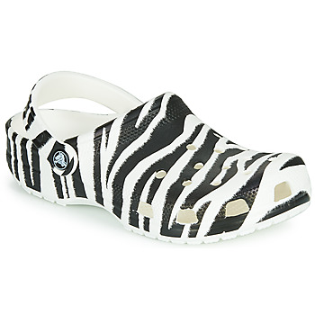 Cipők Női Klumpák Crocs CLASSIC ANIMAL PRINT CLOG Zebra