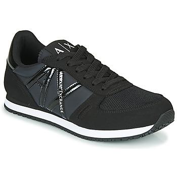 Cipők Női Rövid szárú edzőcipők Armani Exchange XCC62-XDX031 Fekete