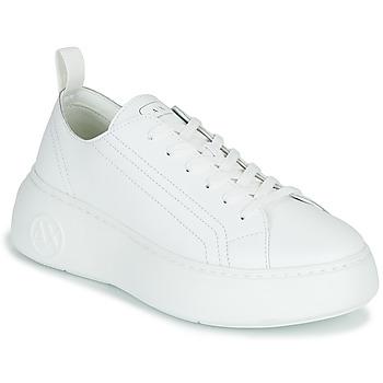 Cipők Női Rövid szárú edzőcipők Armani Exchange PROMNA Fehér