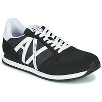 Cipők Férfi Rövid szárú edzőcipők Armani Exchange XCC68-XUX017 Fekete