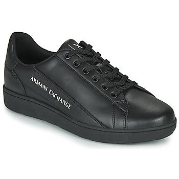 Cipők Férfi Rövid szárú edzőcipők Armani Exchange XV262-XUX082 Fekete