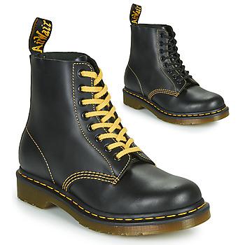 Cipők Férfi Csizmák Dr Martens 1460 PASCAL ATLAS Fekete