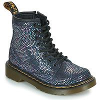 Cipők Lány Csizmák Dr Martens 1460 J Fekete  / Fémes