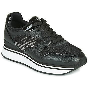 Cipők Női Rövid szárú edzőcipők Emporio Armani  Fekete