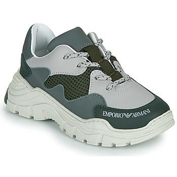 Cipők Gyerek Rövid szárú edzőcipők Emporio Armani XYX008-XOI34 Zöld / Szürke