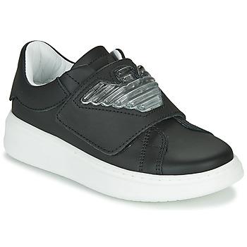 Cipők Gyerek Rövid szárú edzőcipők Emporio Armani XYX014-XOI08 Fekete