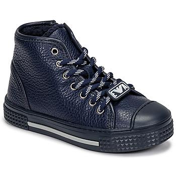 Cipők Gyerek Magas szárú edzőcipők Emporio Armani XYZ004-XOI25 Tengerész