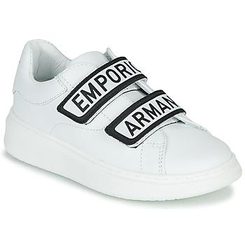 Cipők Gyerek Rövid szárú edzőcipők Emporio Armani XYX007-XCC70 Fehér / Fekete