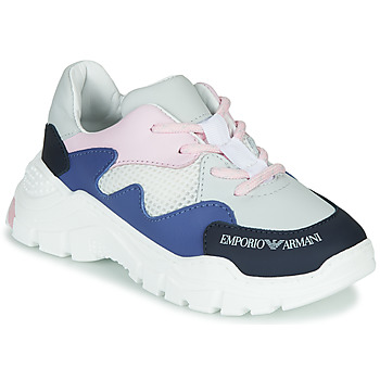 Cipők Fiú Rövid szárú edzőcipők Emporio Armani XYX008-XOI34 Fehér / Kék