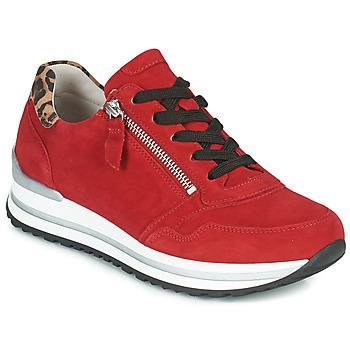 Cipők Női Rövid szárú edzőcipők Gabor 5652838 Piros