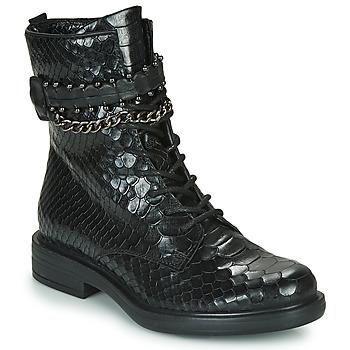 Cipők Női Csizmák Mjus CAFE SNAKE Fekete