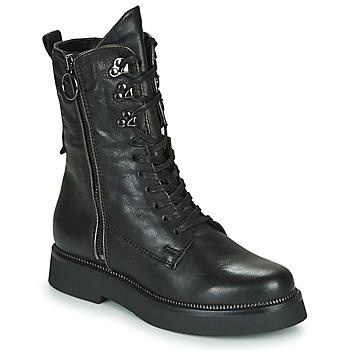 Cipők Női Csizmák Mjus TRIPLE ZIP Fekete