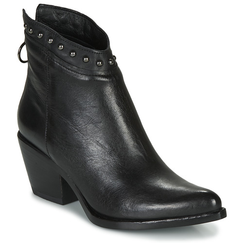Cipők Női Bokacsizmák Mjus TEP Fekete