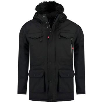 Ruhák Fiú Parka kabátok Geographical Norway ALCALINE BOY Fekete