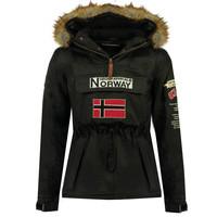 Ruhák Fiú Parka kabátok Geographical Norway BARMAN BOY Fekete