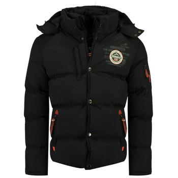 Ruhák Fiú Steppelt kabátok Geographical Norway VERVEINE BOY Fekete