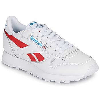 Cipők Rövid szárú edzőcipők Reebok Classic CL LTHR Fehér / Piros