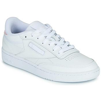 Cipők Női Rövid szárú edzőcipők Reebok Classic CLUB C 85 Fehér / Irizáló