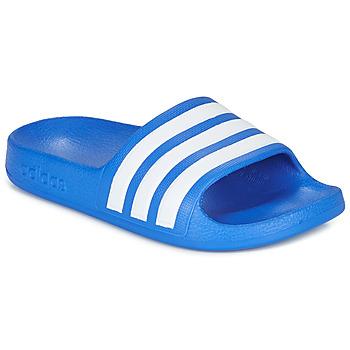 Cipők Fiú strandpapucsok adidas Performance ADILETTE AQUA K Kék / Fehér