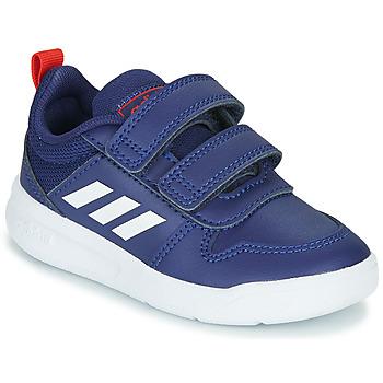Cipők Gyerek Rövid szárú edzőcipők adidas Performance TENSAUR I Kék / Fehér