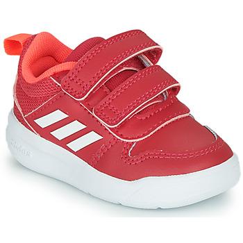 Cipők Lány Rövid szárú edzőcipők adidas Performance TENSAUR I Rózsaszín / Fehér