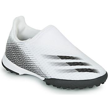 Cipők Gyerek Foci adidas Performance X GHOSTED.3 LL TF J Fehér