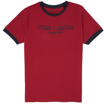 Ruhák Fiú Rövid ujjú pólók Teddy Smith TICLASS 3 Piros