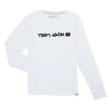 Ruhák Fiú Hosszú ujjú pólók Teddy Smith CLAP Fehér